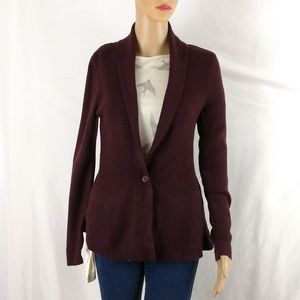 H&M heavy knit blazer size XS deep maroon color